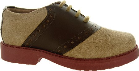 Academie Gear Boys'Westward Saddle Shoes Brown Leather 10 Toddler
