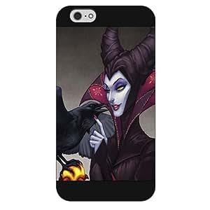 "Customized Black Hard Plastic Disney Sleeping Beauty Maleficent iPhone 6 Plus Case, Only fit iPhone 6+ 5.5"" wangjiang maoyi"
