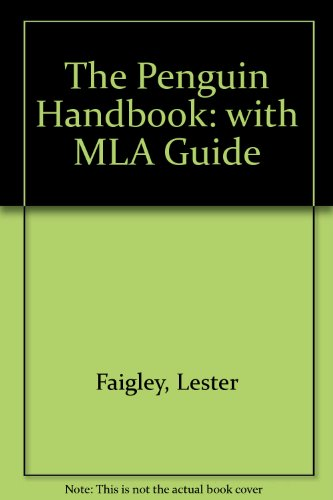 The Penguin Handbook (clothbound) with MLA Guide