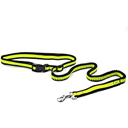 Hands Free Dog Leash For Running, Dseap Enjoy the Extra Freedom While Walking, Running or Hiking with Your Dog,Handle Bungee and control Handle Leash- Strong, Durable and Weather Resistant.Yellow