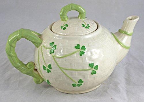 Irish Shamrock Traditional Pattern Teapot