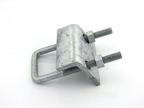 U bolt beam clamp for shallow channel hdg per box