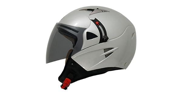 Shiro SH-70 Sunny - Casco para moto (doble pantalla), color gris plata Talla:small: Amazon.es: Deportes y aire libre