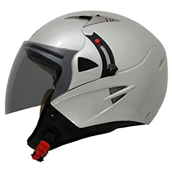 Shiro SH-70 Sunny - Casco para moto (doble pantalla), color gris