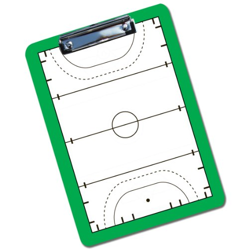Field Hockey Coach Board | Dry Erase Coach Clipboard by ChalkTalk SPORTS | Green