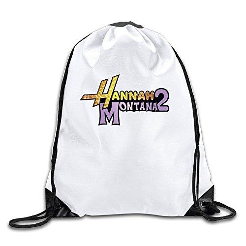 Hannah Montana 2 Lightweight Drawstring Bags Backpack White Size One - Indianapolis Khalifa Wiz