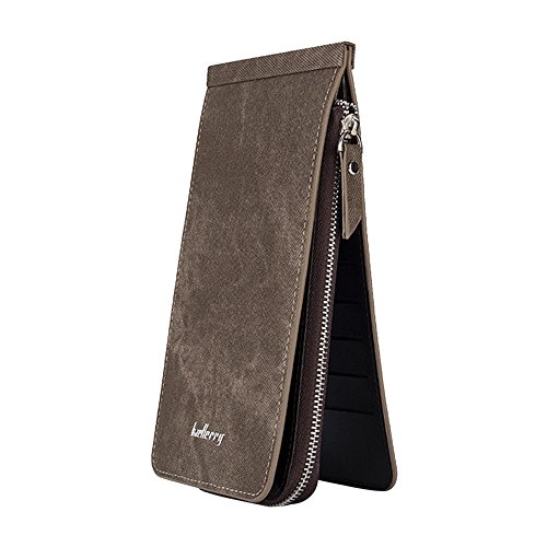 Womens Walllet ✦◆HebeTop✦◆ RFID Blocking Bifold Multi Card Case Wallet with Zipper Pocket Gray]()