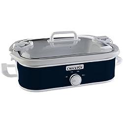 Crock-Pot SCCPCCM350-BL 3.5-Quart Casserole Crock Manual Slow Cooker, Navy Blue