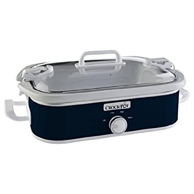 Crock-Pot SCCPCCM350-BL Casserole Crock Slow Cooker, 3.5-Quart, Navy Blue