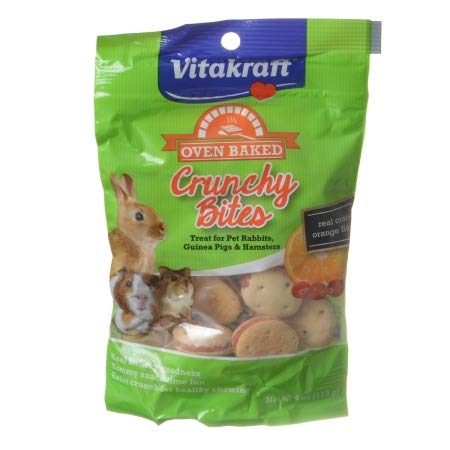 (Vitakraft 34759 4 oz Oven Baked Crunchy Bites Small Pet Treats - Real Cran-Orange Flavor)