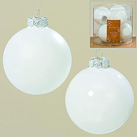 Christbaumkugeln Weiß 8cm.B B 6 Stk Glas Weihnachtskugeln 8cm Christbaumkugeln Weiß Opal