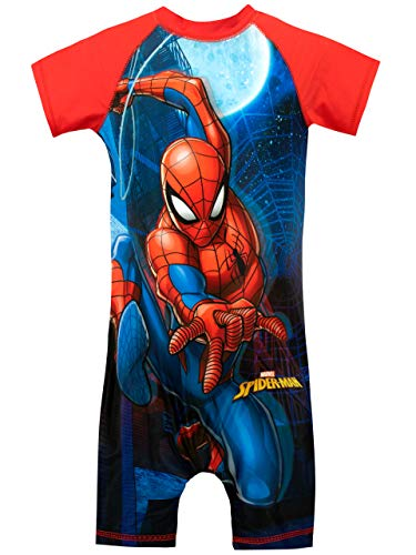 Marvel Boys' Spiderman Swimsuit Size 3T Red (Spiderman Swimsuit)