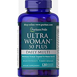 Puritans Pride Ultra Woman 50 Plus Multivitamin Caplets...
