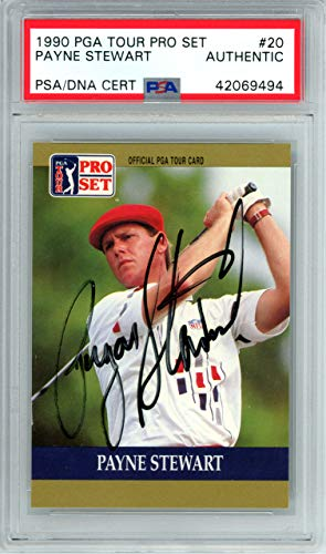 Payne Stewart Signed Auto 1990 Pro Set Rookie Card #20 - PSA/DNA Authentic from Sports Collectibles Online