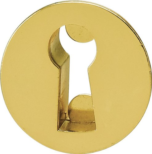 Escutcheon, zinc, gold colored polished, diameter 22mm (Polished Gold Escutcheon)