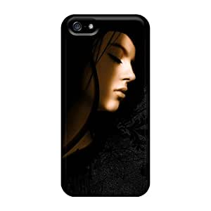 Slim Fit Tpu Protector Shock Absorbent Bumper Sleeping Girl Hd Case For Iphone 5/5s