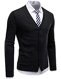 City Casual Mens Knitwear Casual Shawl Collar Cardigan Sweaters