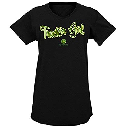John Deere Womens Tractor Girl Short Sleeve Sleepwear Dress-small 23595194