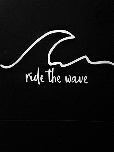 Chase Grace Studio Surf Surfboard Ride The Wave Beaches Vinyl Decal Sticker|White|Cars Trucks Vans SUV Laptops Walls Glass Metal |7.5