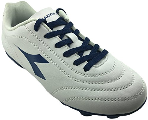 Diadora - Zapatillas de voleibol de Material Sintético para hombre C2433 BIANCO/BLU