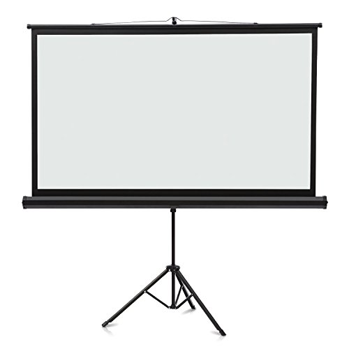 Quartet Projection Screen, Wide Format, 16:9 Aspect Ratio, 52'' x 92'', Tripod Base (85568) by Quartet