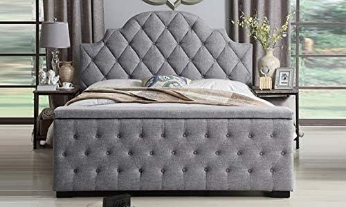 A to Z Furniture - سرير تخزين لوح القدم Super King بدون مرتبة بلون