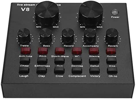 Tarjeta de Sonido Externa en Vivo, Mezclador de Audio Bluetooth ...