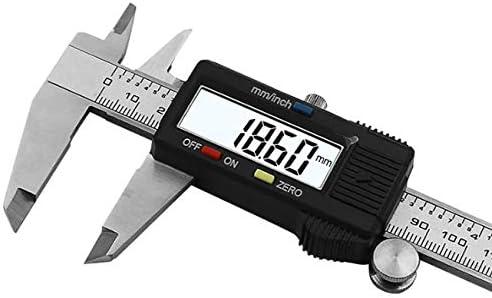 offershop Pied /à coulisse num/érique pr/écision Microm/ètre 150 mm 150 mm 6 pouces acier inoxydable tremp/é grand /écran LCD Mesure externe Profondeur pas