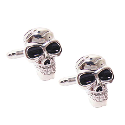 Popular Punk Metal Culllinks Vintage Boys Copper Skeleton Skull Cuff Links