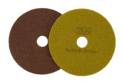 Scotch-Brite 48193 Scotch-Brite Diamond Floor Pad Plus, 12 In, Polyester, Sienna