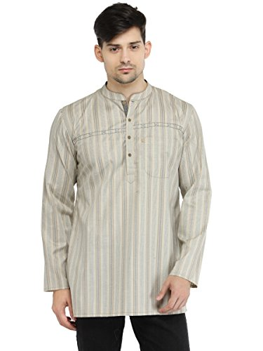 Apparel Men's Cotton Designer Short Kurta Medium ()
