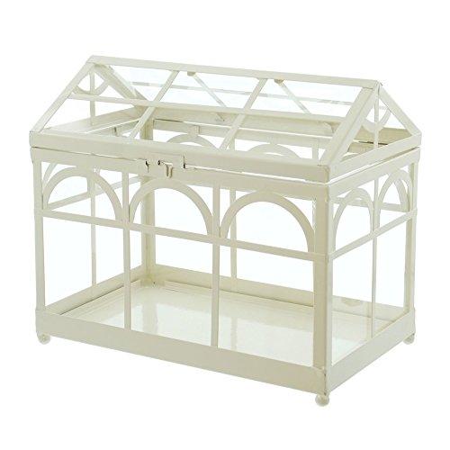 PierSurplus Decorative White Metal Tabletop Greenhouse/Terrarium Product SKU: GD221932
