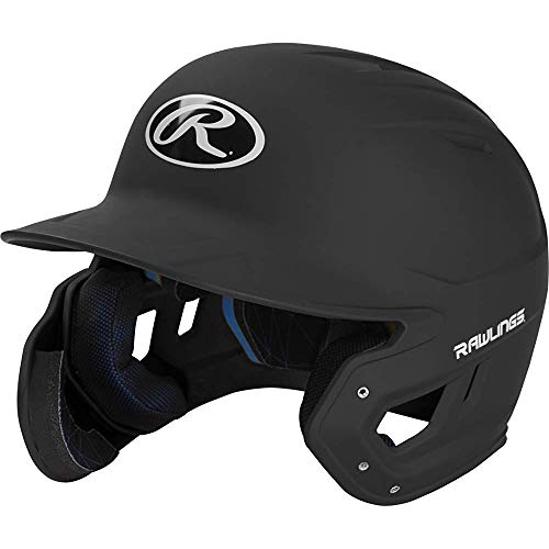 (Rawlings MACHEXTR-B7-SR 2019 Mach Baseball Batting Helmet, Matte Black)
