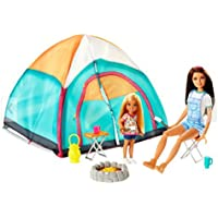 Barbie Camping Fun Skipper and Chelsea 2 Doll Tent playset