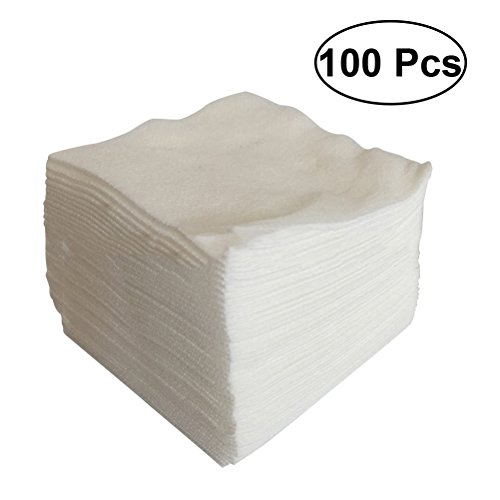 ULTNICE 100pcs Medical Non Woven Swab Gauze Sponge for Wound Care First Aid Supplies (Filled Sponges Cotton)