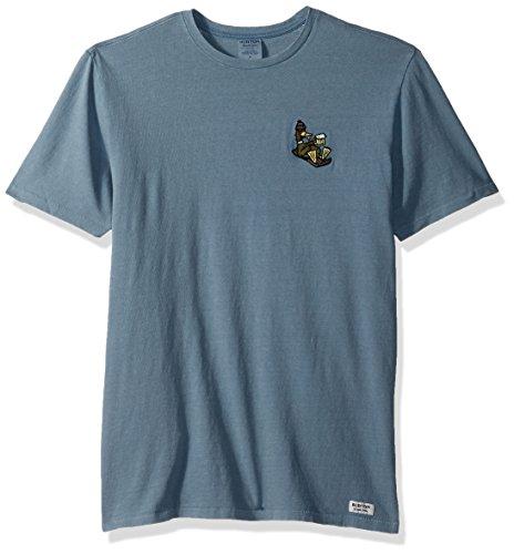 Burton Men's Passing Through Short Sleeve T-Shirt, Winter Sky, (Burton Blue Shirt)