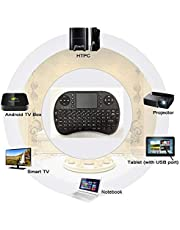 Arabic/English Rii i8 Mini 2.4GHz Wireless Touchpad Keyboard with Mouse for PC, PAD, XBox 360, PS3, Google Android TV Box, HTPC, IPTV (2.4G Black)