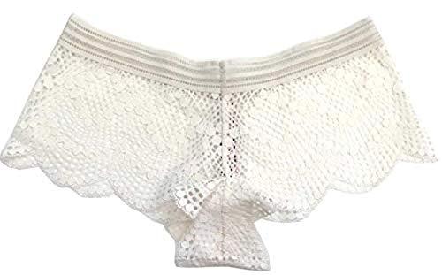 Victorias Secrets Dream Angels Coconut White Fishnet Shortie Panty Medium