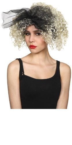 Ew Costume (Womens 80's Material Girl Blonde Hair Madonna Popstar Wig - Wicked Costumes)
