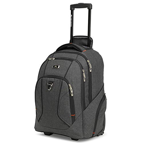 High Sierra Endeavor Business Wheeled Backpack - Carry-on Wheeled Backpack for Adults - Laptop Backpack with Wheels - Sleek, Stylish Unisex Campus Backpack - Ideal Business Backpack for Travel