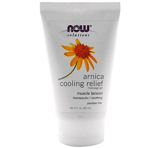 NOW Solutions Arnica Cooling Relief Massage Gel, 2 fl oz