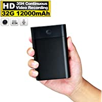 Hidden USB Spy Camera 12,000mAh Power Bank, 35 Hours Continuous Video Recording, 32GB Internal Memory Full HD 1080P for Home Social Experiment Security Surveillance