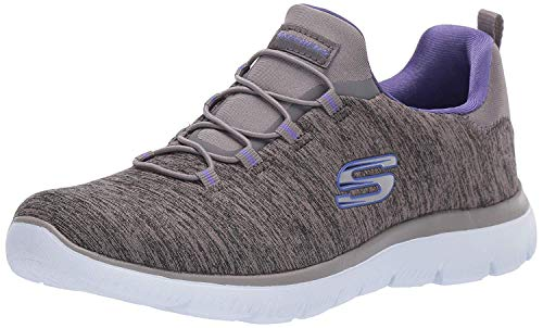 Skechers Summit - Quick Getaway Charcoal/Purple 8.5