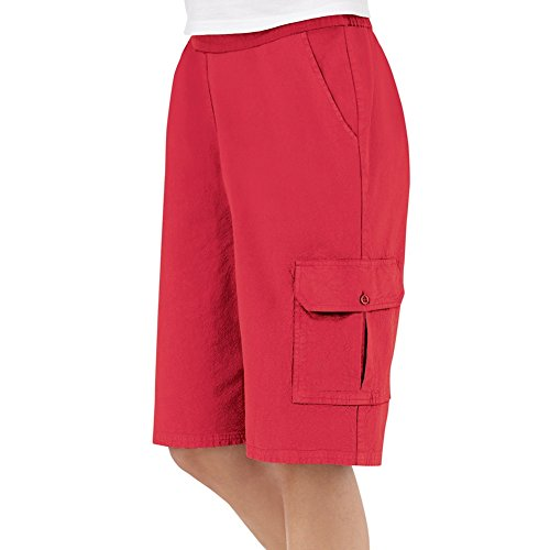 Womens Elastic Waist Cargo Pocket