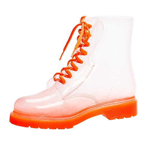 Stiefel Frauen Sole Jolly Jelly Orange Wasserdichte Regen afETq6w