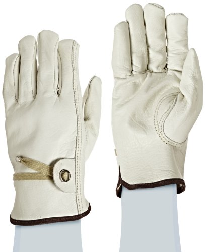 West Chester 84055 Premium Grain Cowhide Leather Unlined Driver Work Gloves: Large, 1 Pair Westchester Premium Grain Leather