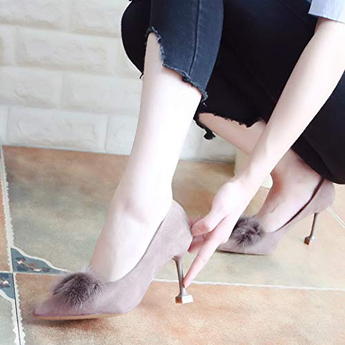 Single Fashion Shoes Pointed Women'S Autumn Shoes And 8Cm Thin Black Shoes Sharp Heeled High Thin Shoes Nine Thirty KPHY 8C6wBqP