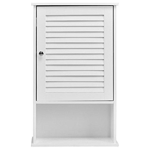 New White Bathroom Single Door Wall Cabinet Storage Organizer Door Hanging Kitchen