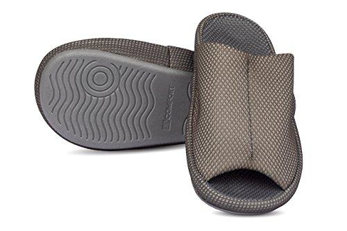 Pantofole Rilassate A Piedi Rilassati   Per Interni Ed Esterni   1 Paio Con Custodia Verde Navy Con Grigio E Arancione
