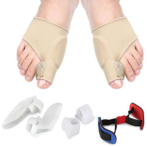 Accmor Bunion Corrector & Bunion Relief Kit, Toe Separators Bunion Corrector Sleeve Toe Spacer Aid Surgery Treatment Cure Pain in Big Toe Joint, Tailors Bunion, Hallux Valgus, Hammer Toe (7 PCS) by accmor